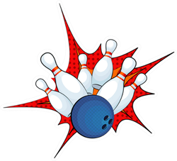 Illustration Of A Bowling Ball Strike Sticker