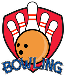 Illustration Of A Bowling Club Logo Sticker