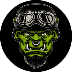 Illustration Of A Character Biker Sticker