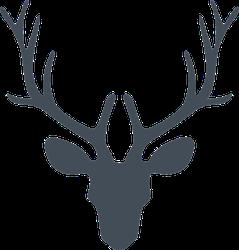 Illustration Of A Deer Head Silhouette Sticker