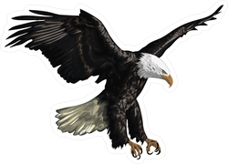 Illustration Of A Flying Bald Eagle Sticker