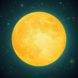 Illustration Of A Full Moon Sticker
