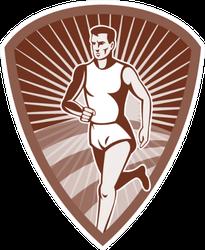 Illustration Of A Marathon Athlete Sports Runner Sticker