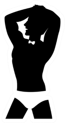 Illustration Of A Silhouette Of A Man Dancer Sticker