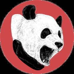 Illustration Of Angry Panda Sticker