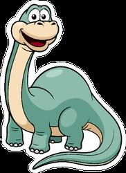 Illustration Of Blue Cartoon Dinosaur Sticker
