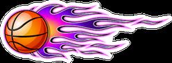Illustration Of Burning Basketball Ball Icon Sticker