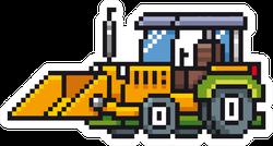 Illustration Of Cartoon Tractor - Pixel Sticker