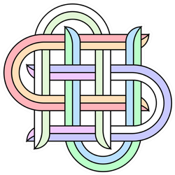 Illustration Of Celtic Knot In Rainbow Sticker