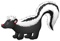 Illustration Of Cute Skunk Cartoon Sticker