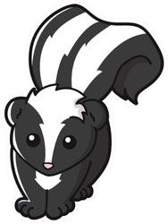Illustration Of Cute Skunk Sticker
