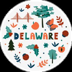 Illustration Of Delaware Theme Sticker