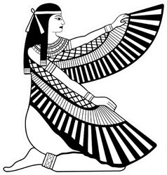 Illustration Of Egyptian National Drawing Goddess Isis Sticker