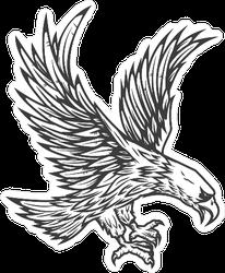 Illustration Of Flying Eagle Sticker