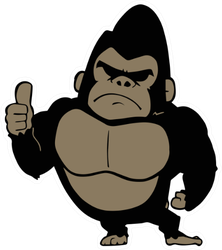 Illustration Of Gorilla Doing Thumbs Up Sticker