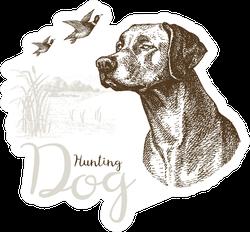 "Illustration Of ""Hunting Dog"" Sticker"