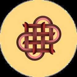Illustration Of Knot On Yellow Sticker