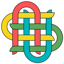 Illustration Of Knots In Celtic Colorful Style Sticker