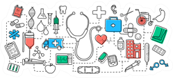 Illustration Of Medical Concept Objects Sticker