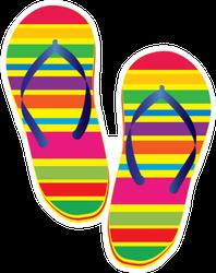 Illustration Of Rainbow Sandals Sticker