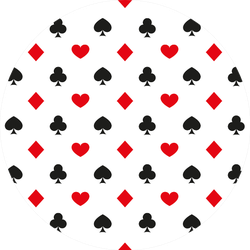 Illustration Of Seamless Playing Card Suits Pattern Sticker
