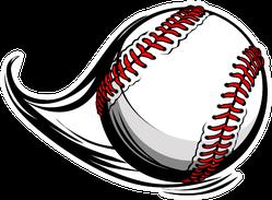 Illustration Of Softball Or Baseball With Movement Motion Sticker