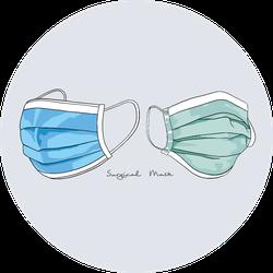 Illustration Of Surgical Mask Medical Mask Sticker