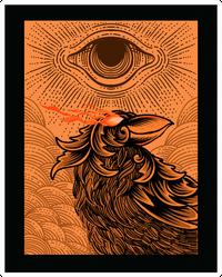 Illustration Scary Crow With Illuminati Eyes Sticker