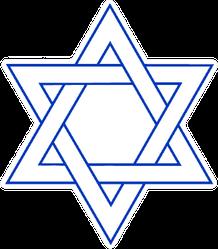 Illustration Star Of David Icon Sticker