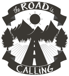 """Illustration """"The Road Is Calling"""" Running Sticker"""