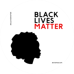 "Illustration With The Text ""black Lives Matter"" Sticker"