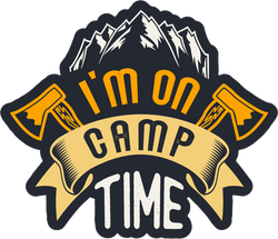 I'm On Camp Time Sticker