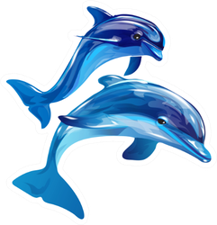 Image Of Dolphins Jumping Out Of The Water Sticker