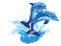 Image Of Dolphins Jumping Out Of Water Sticker