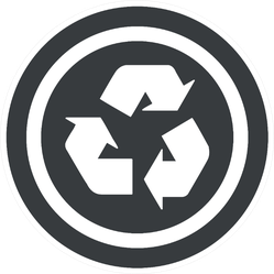 Image Of Recycle Symbol In Circle Sticker