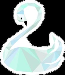 Image Of Swan Polygonal Art Sticker