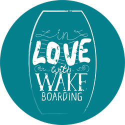 In Love With Wake Boarding Sticker