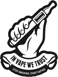 In Vape We Trust Sticker