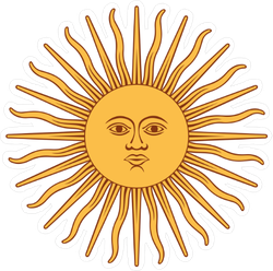 Inca Sun God Sticker