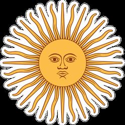 Inca Sun God Sticker