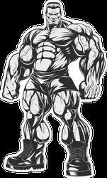 Incredible Bodybuilder Sticker