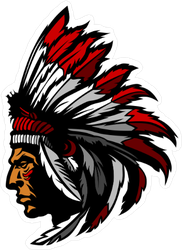 Indian Chief Mascot Sticker