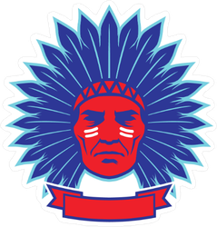 Indian Chief with Ribbon Sticker
