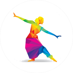 Indian Classical Dancer Sticker