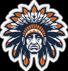 Indian Head Mascot Sticker