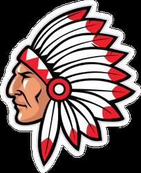 Indian Mascot Sticker