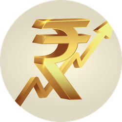 Indian Rupee Growth Sticker
