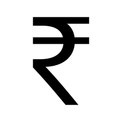 Indian Rupee Symbol Sticker