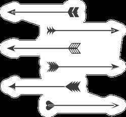 Indian Style Arrows Set Sticker