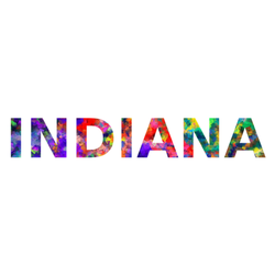 Indiana Colorful Typography Sticker